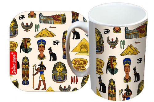 Selina-Jayne Egyptologist Limited Edition Designer Mug and Coaster Set